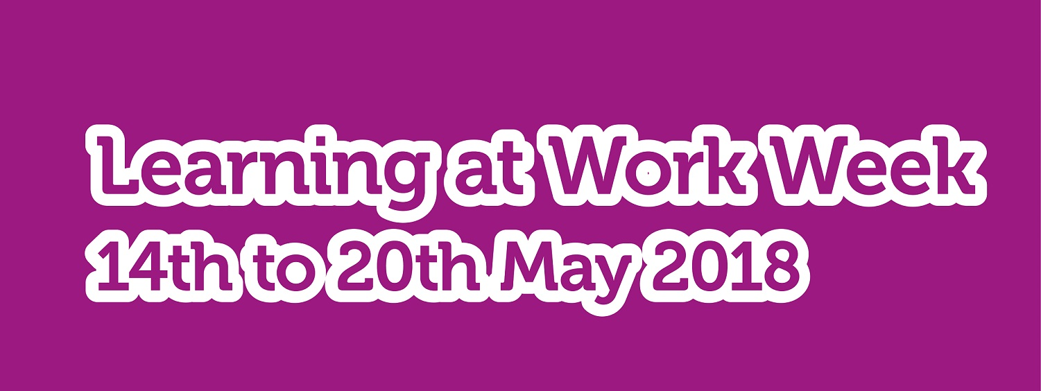 We're proud to be supporting Learning at Work Week 2018 image