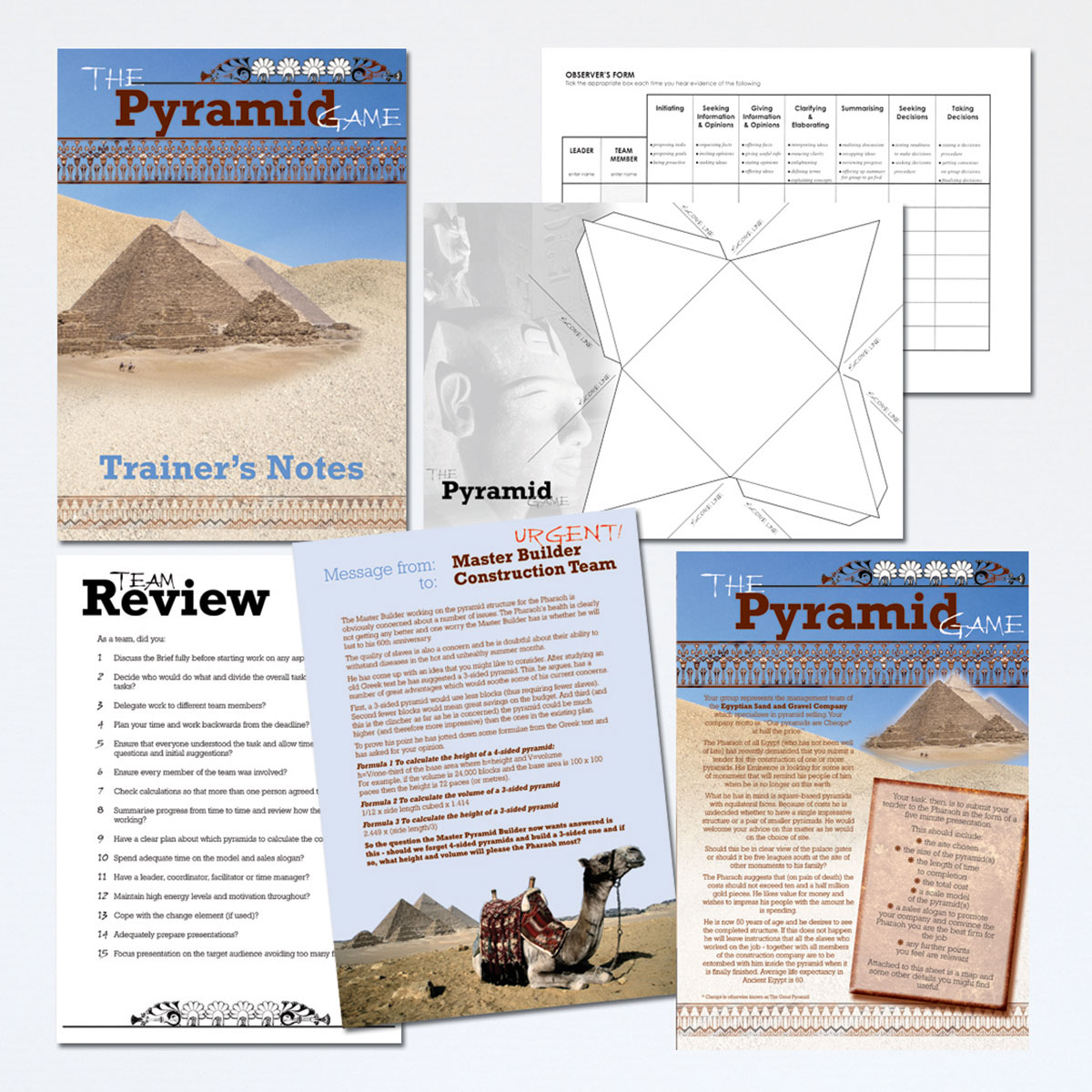 The Pyramid Game | Teamwork Training Activity