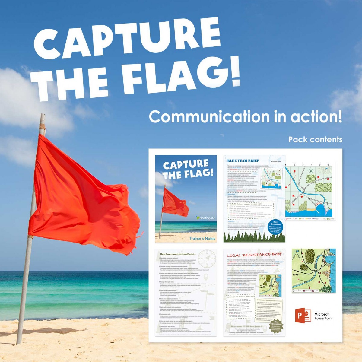 Capture the Flag! | Communication Training Activity | Virtual Training Activity