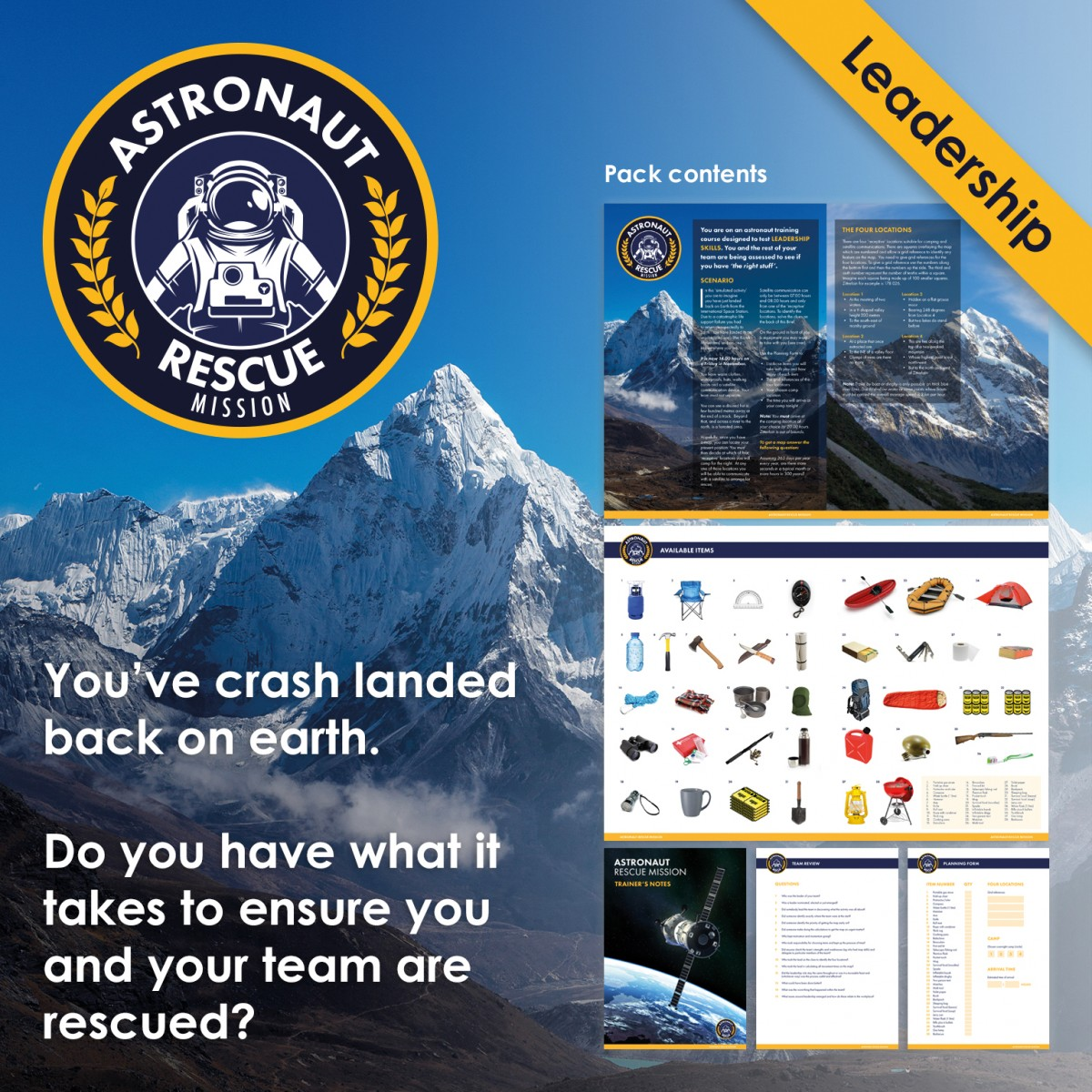 Astronaut Rescue Mission | Team & Leadership Training Activity | Virtual Training Activity